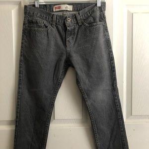 Levi's 511 Skinny Gray Wash Boys Jeans (8 Husky)